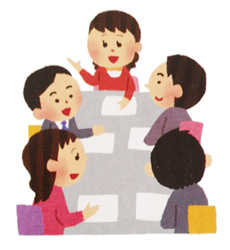中小企業家同友会では、たくさんの経営者と本気の経営話や情報交換ができます。